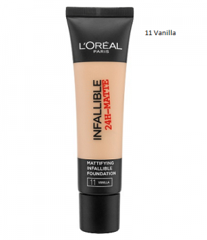 L'Oreal Infallible Matte Foundation фон дьо тен